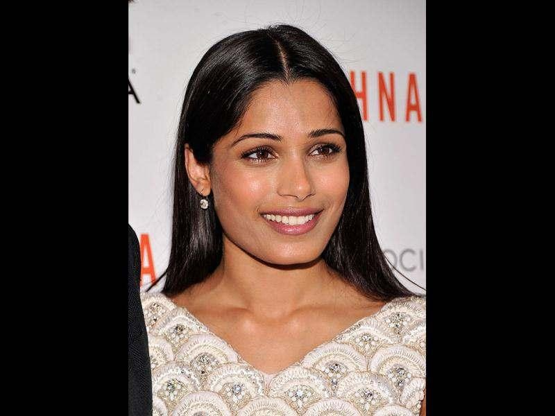 """It was a tough role to play because it's so different from what I am in real life,"" she Freida Pinto."