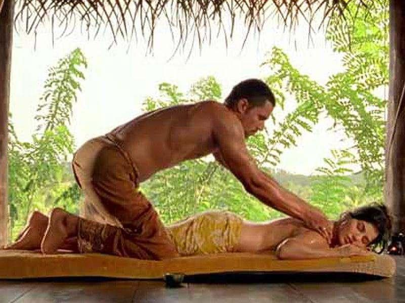 Randeep Hooda massaging Sunny Leone's bare back is the most sensuous sequence.