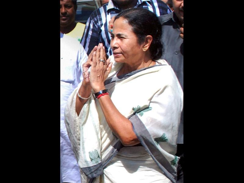 West Bengal chief minister Mamata Banerjee arrives at Bagdogra Airport in Siliguri for a visit to North Bengal. PTI Photo