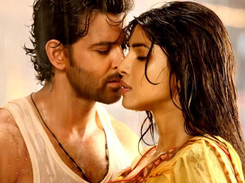 Priyanka Chopra-Hrithik Roshan in Agneepath. The movie grossed some Rs 120 crore at the box office.