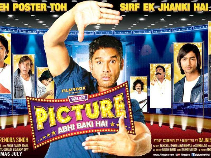 Picture Abhi Baki hai discovers the journey of Amar Joshi (Sunil Shetty) who runs a video library and aspires to be a filmmaker.