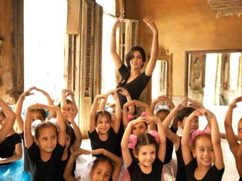 Katrina's character Zoya is a ballet dancer, who takes lessons in the dance form and also teaches it to her fellow students.