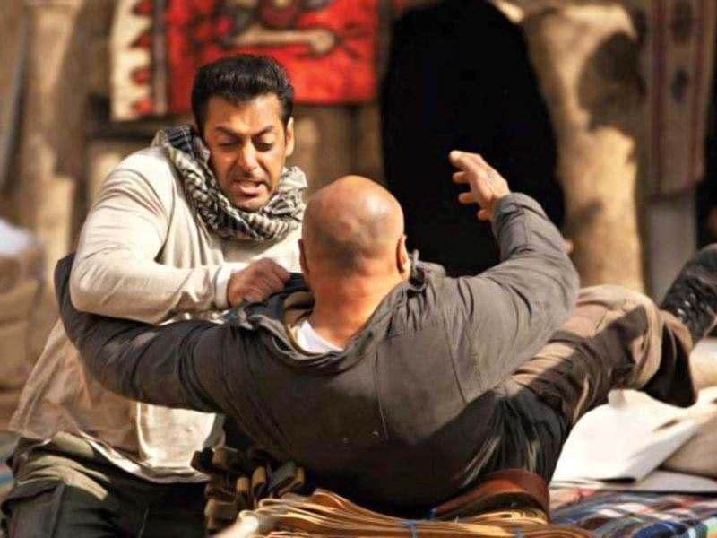 Salman Khan in a fight sequence from the film.