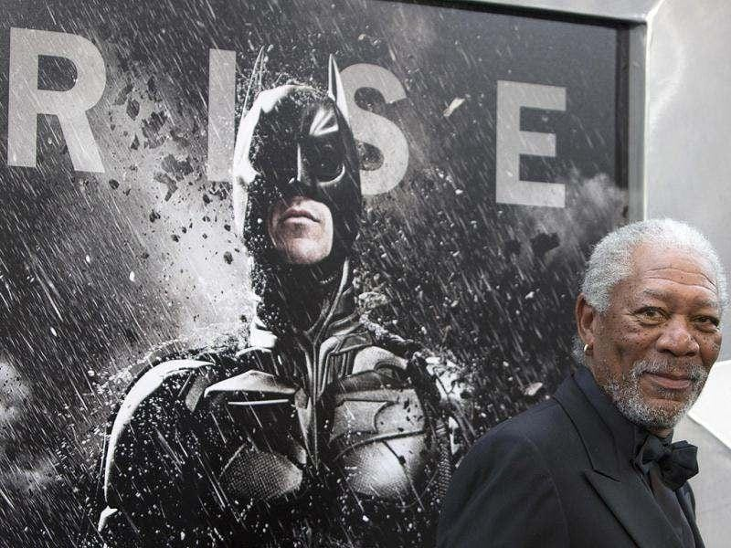 Actor Morgan Freeman attends the world premiere of The Dark Knight Rises. (Reuters)