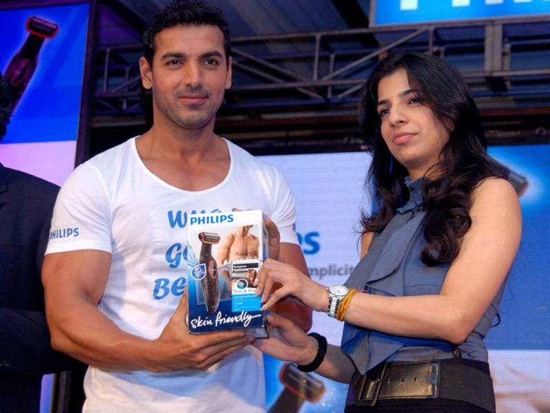 John Abraham looks cute at the launch.