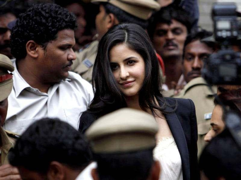 Bollywood actress Katrina Kaif attends an event to inaugurate a jewellery showroom in Hyderabad on Friday, July 20, 2012.