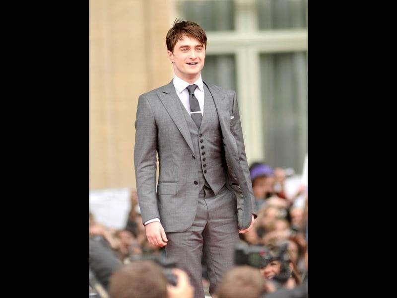 Daniel Radcliffe strikes a pose during a premire of his latest movie, The Woman in Black, which released in February this year.