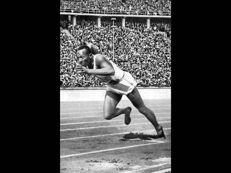 At Berlin 1936, US champion Jesse (James Cleveland) Owens, seen here powering his way at the start of the 200m event that he won, enjoyed seven days the like of which had never been seen before, winning four golds. AFP photo