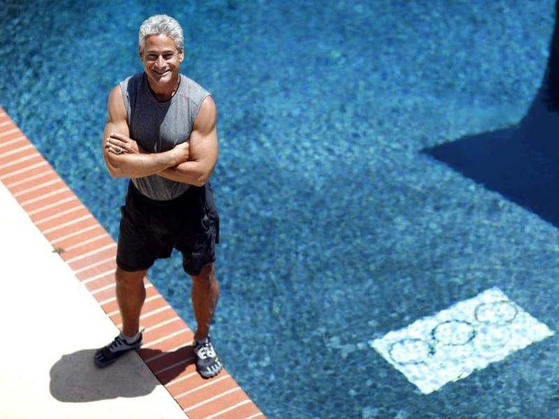 American Olympic diver Greg Louganis poses for a portrait at his home in Malibu, California. Louganis is one of the last US divers to triumph at the Olympics, and many call him the best diver ever. Reuters/Mario Anzuoni