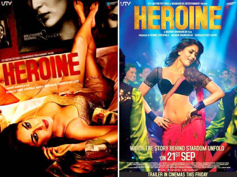 Madhur Bhandarkar released the first poster of the much-awaited film Heroine on Twitter showing actress Kareena Kapoor in a glam avatar.