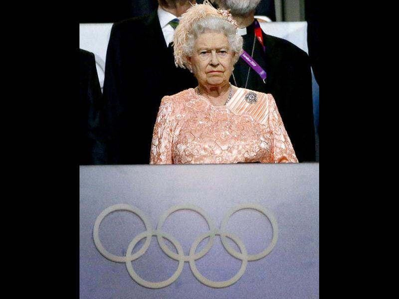Britain's Queen Elizabeth attends the opening ceremony of the London 2012 Olympic Games at the Olympic Stadium. (Reuters)