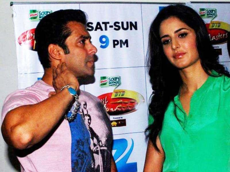 Salman Khan and Katrina Kaif seem pretty comfortable with each other even after their split in 2010.