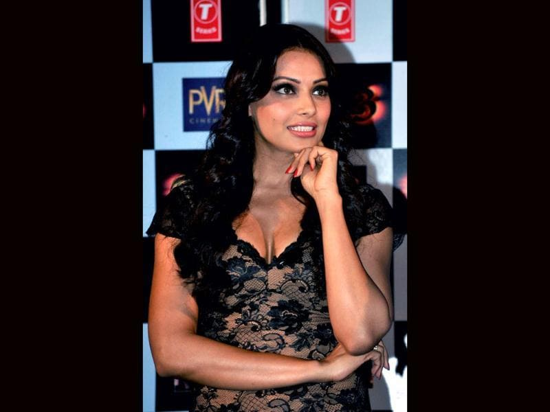 Spectator: Bipasha Basu looks observant during media interaction. (AFP Photo)