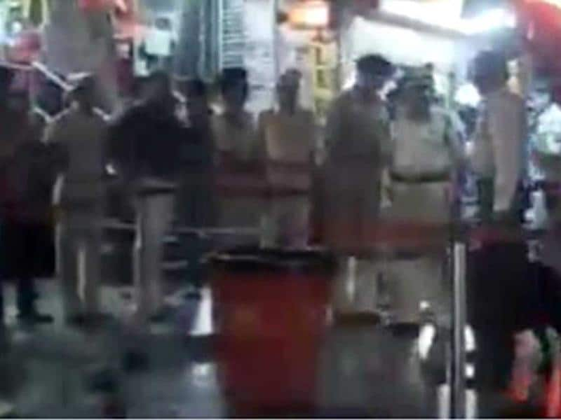Five low-intensity bomb blasts shook Pune today, injuring at least one person, police said. (TV screen shots)