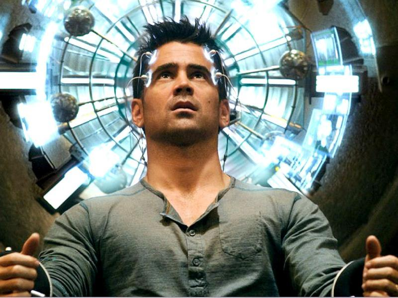 Total Recall is back! In a reboot of the 1990 version, actor Colin Farrell will be seen reprising the role of Arnold Schwarzenegger as Douglas Quaid in the action-thriller about reality and memory. Here's a peek at the film.