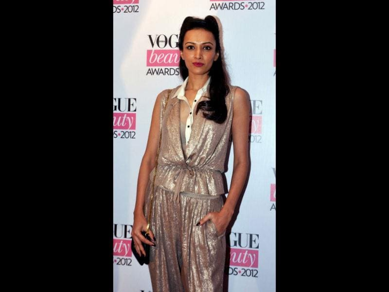 Model/actress Dipannita Sharma was doing fine with the shimmery jumpsuit but the inspiration from Catwoman's look is not very welcome.