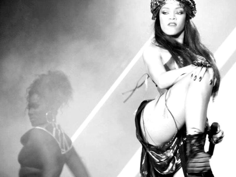 Rihanna has no inhibitions about flaunting her toned body.