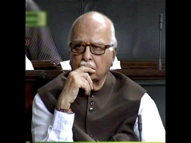 BJP senior leader LK Advani in the Lok Sabha during Parliament's monsoon session in New Delhi. PTI/TV grab