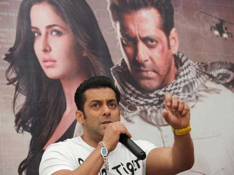 However, Salman's co-star Katrina was conspicuous by her absence.