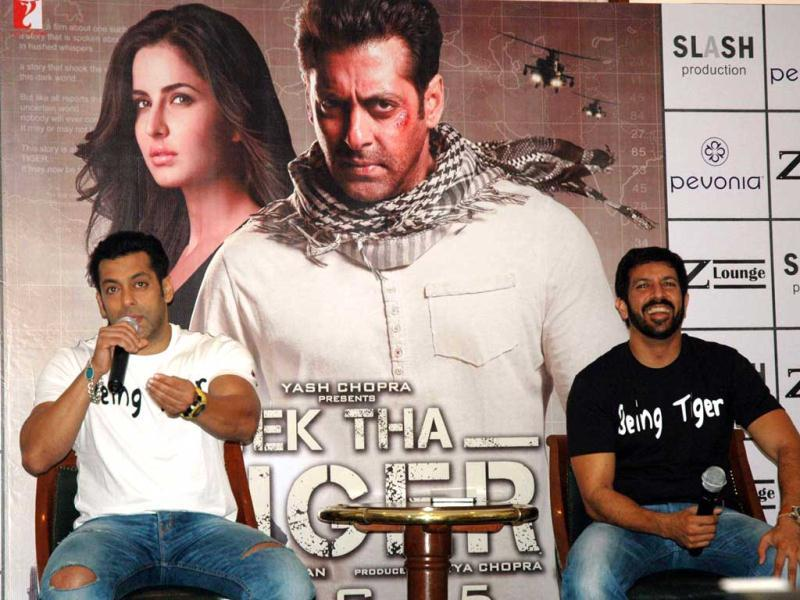 Salman promoted Ek Tha Tiger in Delhi along with director Kabir Khan.