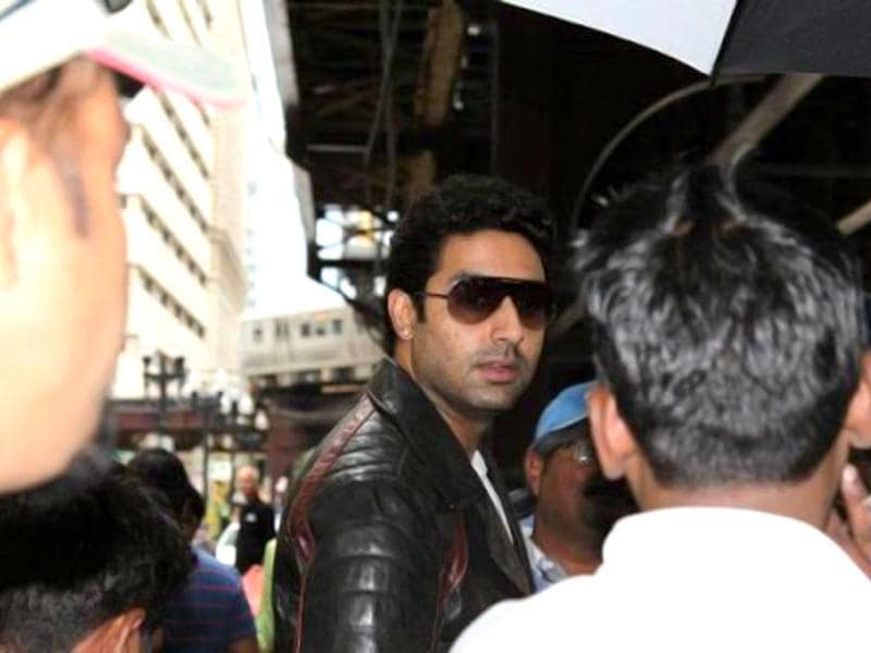 Abhihek Bachchan on the sets of Dhoom 3, which is one of the most-awaited films of 2013.