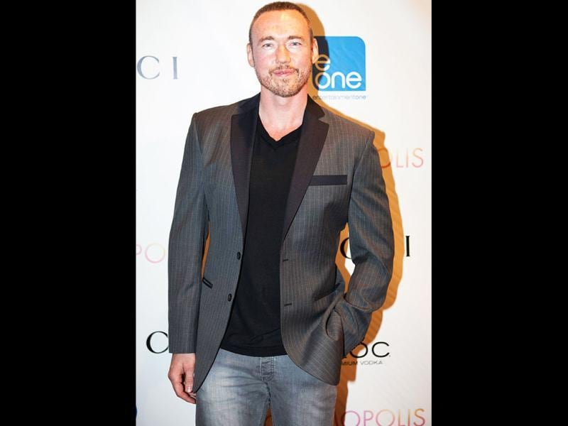 Actor Kevin Durand arrives for the premier of the film Cosmopolis in New York. (Reuters Photo)