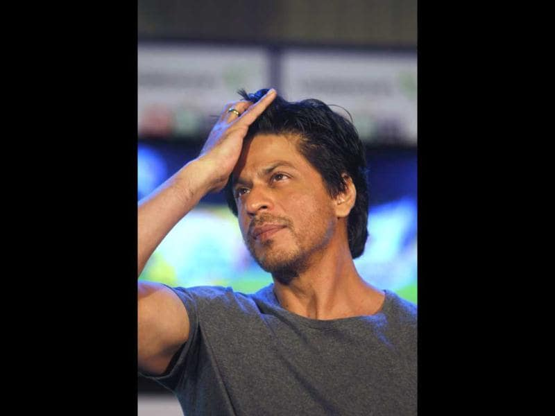 Shah Rukh Khan during the announcement of a partnership between Videocon and Digital Direct Broadcast (DDB) in Mumbai.