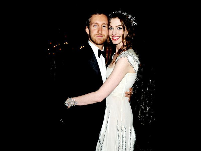 Anne Hathaway began dating actor Adam Shulman in November 2008. The couple became engaged in November 2011. (Photo: Getty Images)