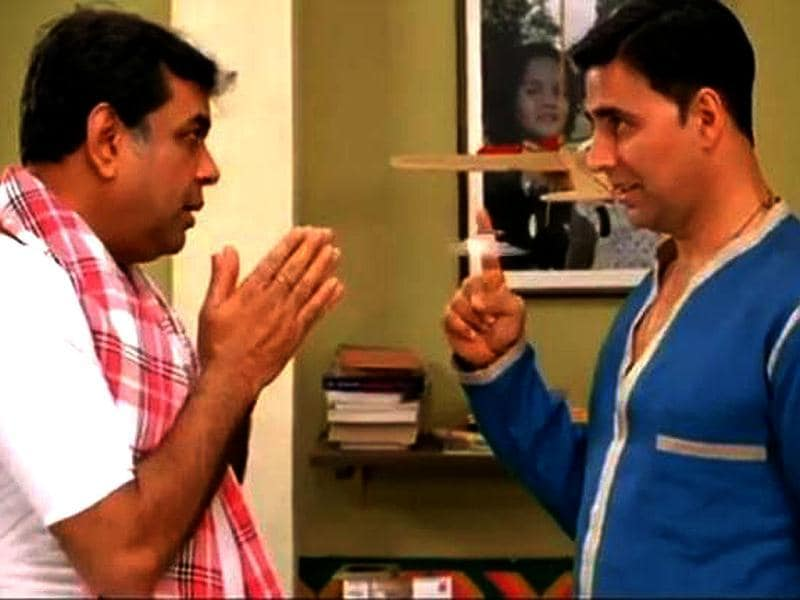 Akshay Kumar and Paresh Rawal in a still from the film.