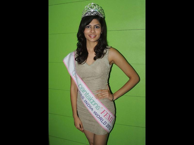 A file photo of Pantaloons Femina Miss India 2012, Vanya Mishra, Vanya Mishra reaches top 7. AFP Photo