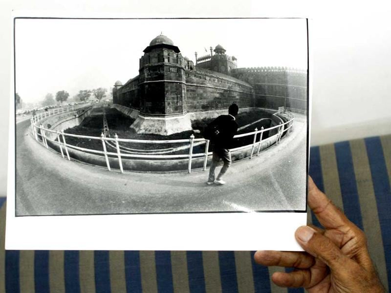 S Paul used fish eye lens for clicking this picture of Red Fort. (Jasjeet Plaha/HT photos)