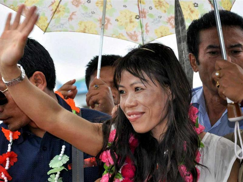 Olympic medallist boxer MC Mary Kom was awarded the Padma Bhushan honour on the eve of the 64th Republic Day.