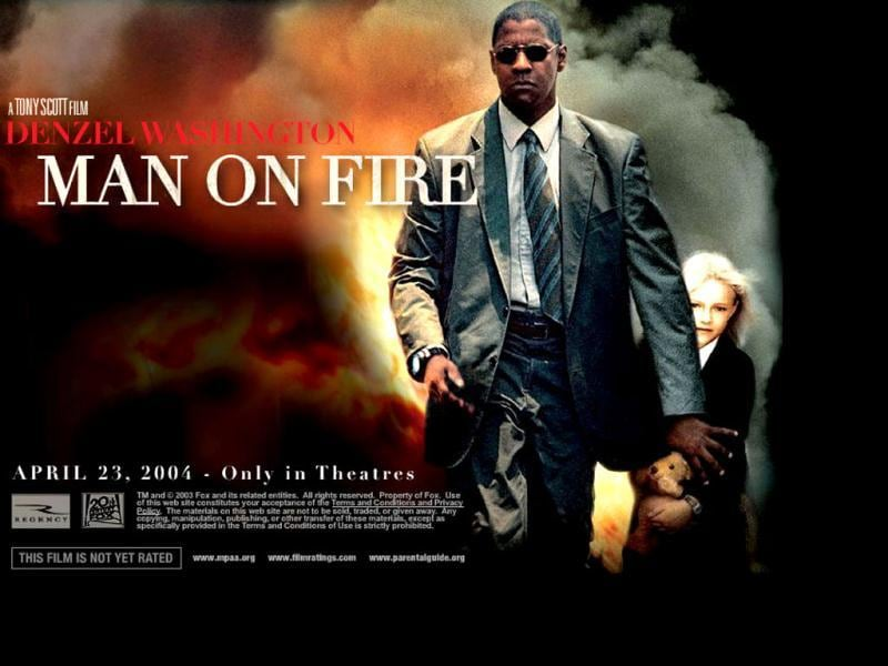 Man on Fire is a 2004 thriller film, based on the 1980 novel of the same name by A. J. Quinnell. Man on Fire stars Denzel Washington as a despondent former CIA operative turned bodyguard.