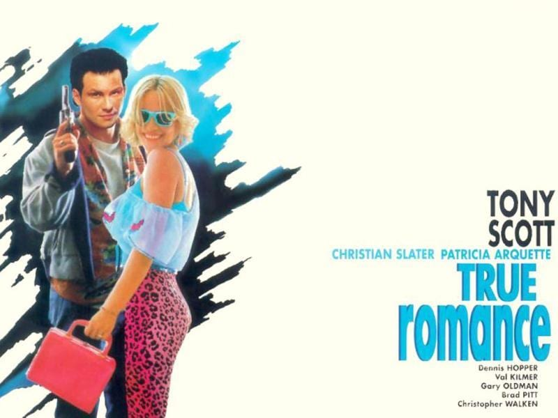 True Romance is a 1993 American romantic crime film written by Quentin Tarantino and directed by Tony Scott. The film stars Christian Slater and Patricia Arquette with an ensemble cast featuring Dennis Hopper, Val Kilmer, Gary Oldman, Brad Pitt and Samuel Jackson.