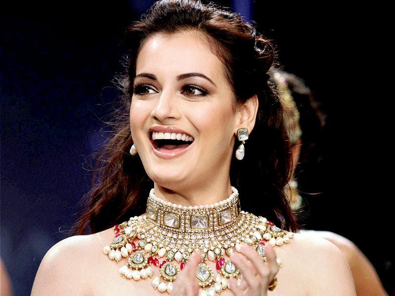 Dia Mirza stunned in a black outfit teamed with a huge neckpiece. (AFP Photo)