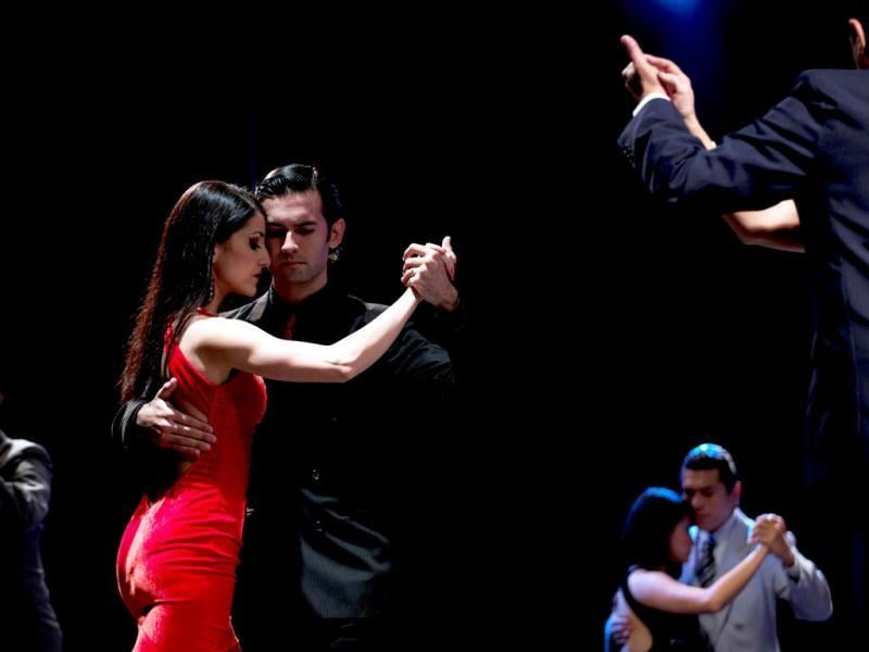 Couples compete during the 2012 Tango Dance World Cup in Buenos Aires, Argentina. AP/Natacha Pisarenko