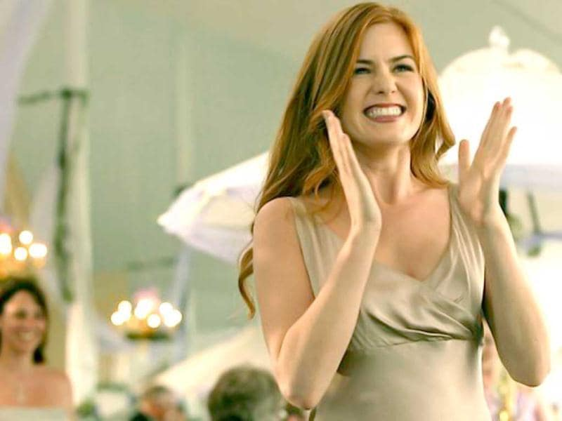 Isla Fisher's did a lot of skin show in Wedding Crashers, but had a body double for all nude scenes.