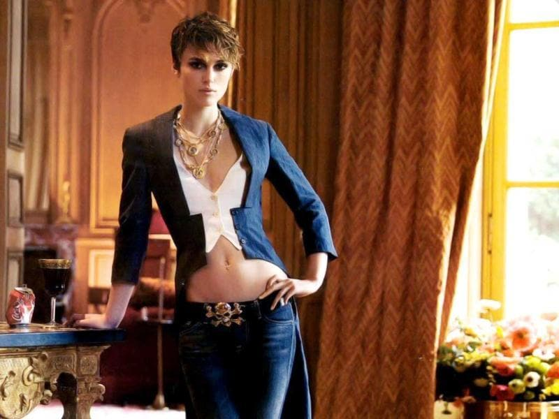 Keira Knightley used a butt double for a lap-dancing scene in film Domino.