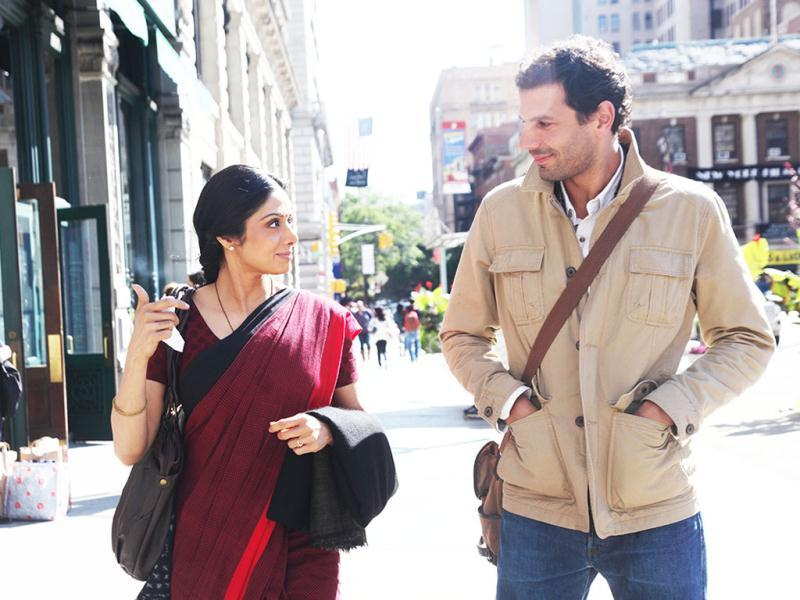 English Vinglish also features French actor Mehdi Nebbou.