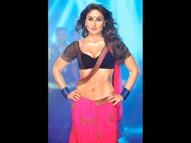Kareena Kapoor's bright pink saree and dark blue blouse in item song Halkat Jawani will be auctioned for a cause.