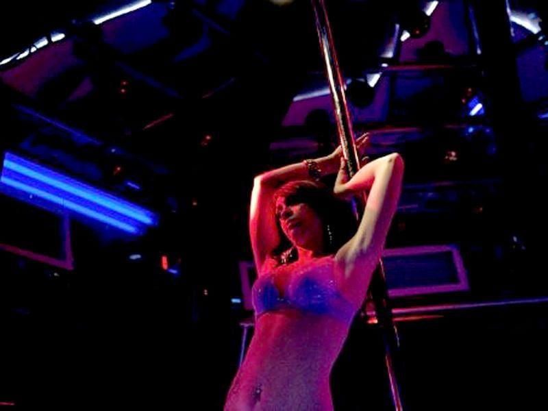 A dancer performs at the Mons Venus Club in Tampa, Florida. Despite only having 30 strip clubs Tampa has earned the title of