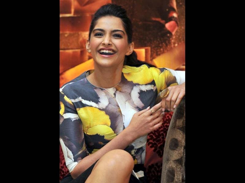 The 27-year-old outspoken and carefree Sonam Kapoor is known for her fashion sense, guts and grace. Taran Adarsh says about her,