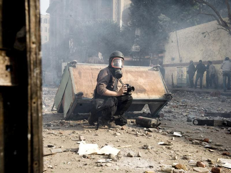 French photographer Remi Ochlik is seen in this picture taken in Cairo, Egypt on November 23, 2011. Reuters Photo