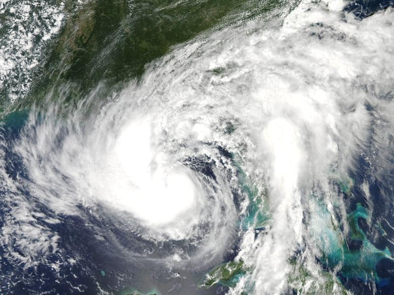 NASA Aqua satellite image shows hurricane Isaac over the Gulf of Mexico, heading on track towards the US state of Louisiana.