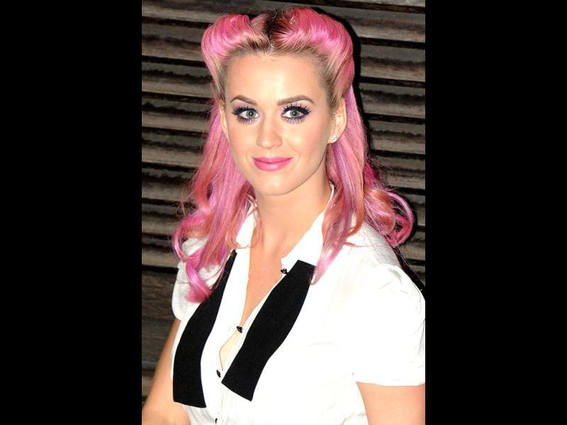 Pink and cute Katy Perry during October 2011.