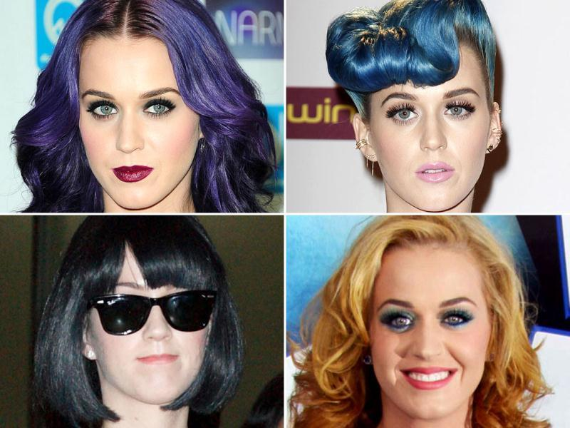 Katy Perry flaunts orange tresses in her latest magazine shoot. Here's a look at her best hairstyles.