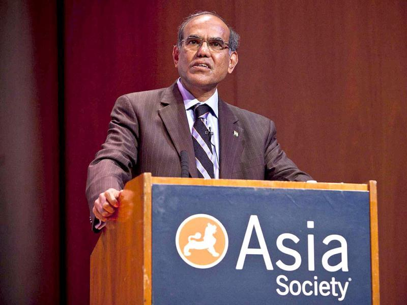 Duvvuri Subbarao, governor of the Reserve Bank of India, speaks during