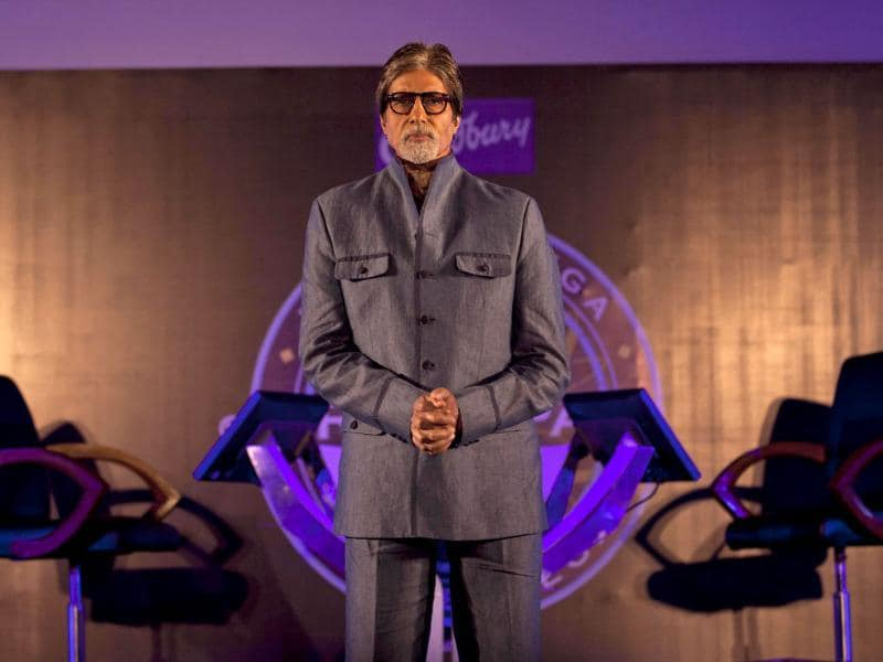 "Citing the example of Sushil Kumar, who won Rs 5 crore last season, Big B says, ""Sushil came from a very poor family, but still he had the desire to get educated. It was due to this education...knowledge that he won Rs 5 crore and became the winner."" (AFP Photo)"