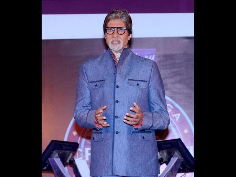 Amitabh Bachchan, who is back to hosting the sixth season of the popular game show Kaun Banega Crorepati, believes that knowledge is the key to success. (UNI Photo)
