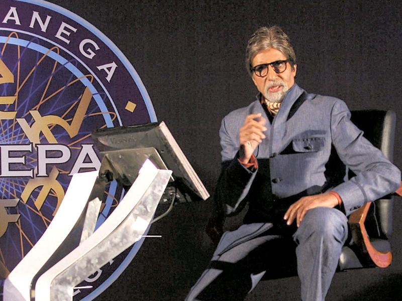 Bollywood actor and host Amitabh Bachchan at a press conference to promote his television show Kaun Banega Crorepati in Mumbai on August 29. (UNI Photo)